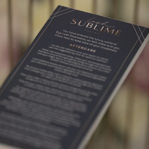 Aftercare Instruction Sheets – Lash Sublime x 50