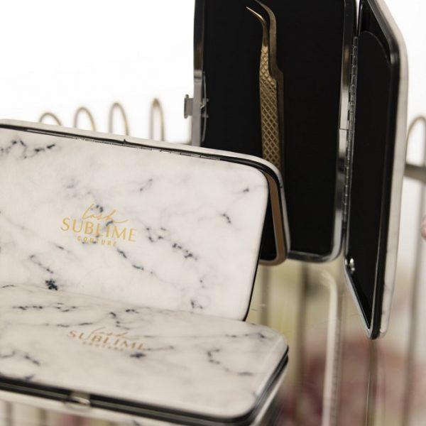 Magnetic Tweezer Case Marble