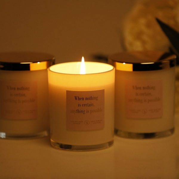 Luxury Lash Candle – Relaxation Blend – When Nothing is Certain, Anything is Possible.