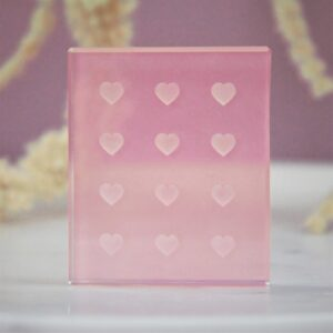 Glass Adhesive Tile – Hearts